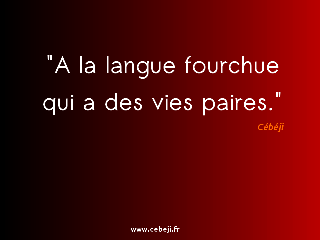langue fourchue