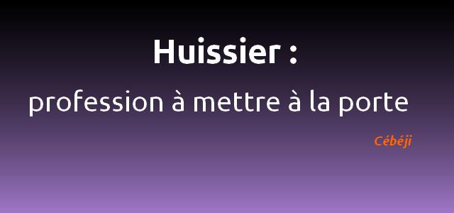 huissier definition