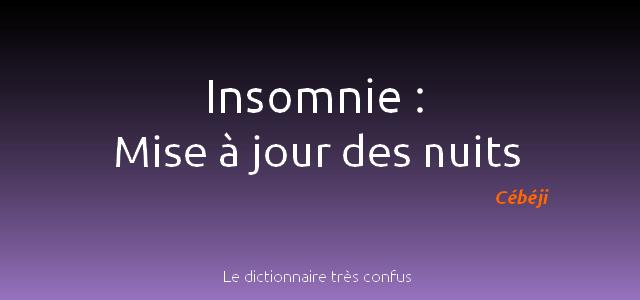 insomnie définition